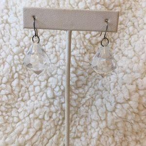 Floating diamond earrings